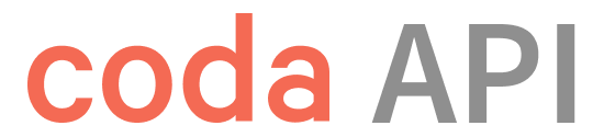 Coda API